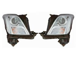 Left Right Genuine Headlights Headlamps No Hid Pair Set For Xts With Leveling Gm