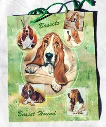 New Basset Hound Pet Dog Gift Bags Set 10 Large Bags Basset Hounds Ruth Maystead