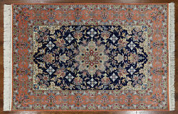 Hand Knotted Signed 5 X 8 Oriental Wool & Silk Rug - SA2599
