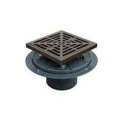 Sioux Chief 821-200prbq Shower Drain Ring And Square Metal Strainer, Orb Finish