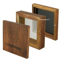 Grindhouse Wood Pollen Sifter Box W/ Magnetic Lid - 5x5 Mesh 125 125 Microns