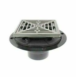 Sioux Chief 821-200psq Shower Drain Ring And Square Metal Strainer, Matte Finish