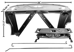 Chevy, Chevrolet Nova Trunk Divider/package Shelf With Deck Lid Hinges 1966-1967