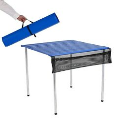 Camp Time Roll-A-Table Table Compact Portable Camping Furniture