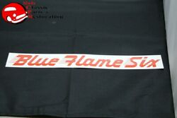 49-52 Chevy Blue Flame Six Air Cleaner Decal Red