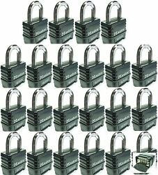 Combination Lock Set Master 1178 Lot Of 22 Resettable Weather Sealed Carbide