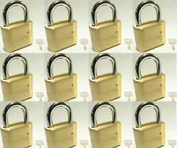 Master Lock Solid Brass 175 Lot Of 12 Set To Your Own Combination Padlock