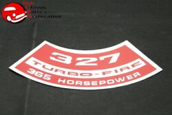 Chevy 327 Turbo Fire 365 Horsepower Air Cleaner Decal