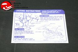 68 Camaro Ss Convertible Spare Tire Jack Instructions Decal Gm 3929977