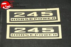 Chevy 245 Horsepower Black And Gold Valve Cover Decals Pair