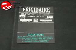 66 Frigidaire Air Condition Comp Decal Green Gm6550113