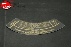 66 Chevy Truck 283 Heavy Duty Air Cleaner Service Instructions Decal 6422146