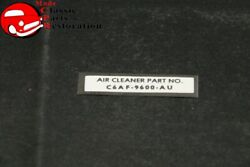 66 Mustang Air Cleaner Instructions Decal Air Cleaner Part No. C6af-9600-au