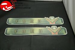 54 Ford 239 Valve Cover Decals Pair