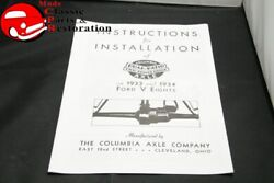 33 34 Ford Columbia Axle Installation Instruction Manual
