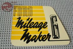 52 53 54 Ford Truck Mileage Maker 6 Valve Cover Decal
