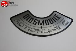 66 67 68 69 70 71 Oldsmobile Actionline 6 Air Cleaner Filter Lid Decal