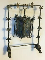Antique Sterling Silver Chinese Lamp China Oriental Enameled Lantern M2158