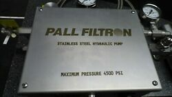 Pall Filtron 4500 Psi Stainless Steel Hydraulic Pump And Simplex Src123 Cylinder