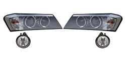 Left And Right Genuine Fog And Bi-xenon No Adaptive Headlights Kit For Bmw F25 F26