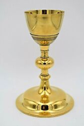 + Nice Antique Chalice + Cup 800 Silver + 9 Ht. + All Goldplated + Cu1209