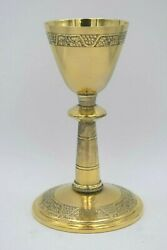 + Nice Antique Neo-gothic Chalice + Cup Sterling + 9 1/4 Ht. + Cu1218