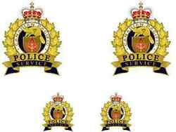 4 X Canadian Pacific Railway Police Waterslide Decal Ideal For Code 3 Models