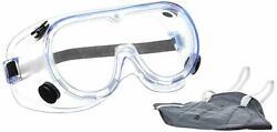 3m 1621+9000in Chemical Protection Safety Goggles And Dust Respirator Mask