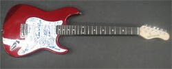 Baywatch Cast Signed Autographed Guitar Hasselhoff Electra Anderson Beckett Bas