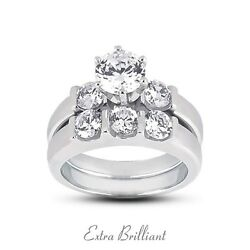 2.22ct Total DVS1Ideal Round Certify Diamonds 14kw Classic Matching Rings 12g