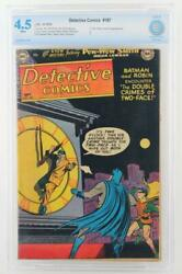Detective Comics 187 Dc 1952 - Cgc 4.5 Vg+ - Batman Two-face Cover And App