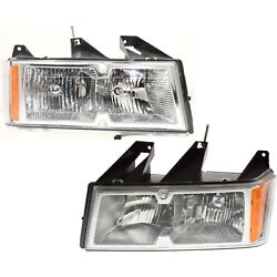 Halogen Headlight Set For 2005-2008 Chevy Colorado Left And Right W/ Bulbs Pair