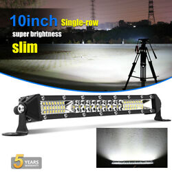 10inch 600w Led Light Bar Spot Flood Combo Work Suv Boat Driving Offroad Atv 4wd