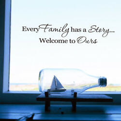Family Home Family Story Quote Wall Stickers Art Dining Room Removable Decals