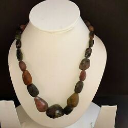 Natural Multi Tourmaline Super Gems Nugget Faceted Beads 1Necklace Upto 500carat