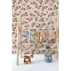 Removable Wallpaper Cute Pink Flowers Renters Floral Self Adhesive Art