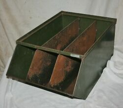 Large Heavy Gauge Steel Divided Compartment Utility Parts Hardware Storage Bin