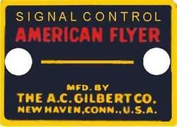 Signal Control Button Adhesive Sticker For American Flyer O Gauge Trains Parts