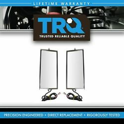 Trq West Coast Mirror Signal Heated 16x7 Stainless Steel Pair For Hd Truck