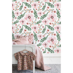 Removable Wallpaper Lovely Flowers Cute Girly For Kids Room Floral Self Adhesive