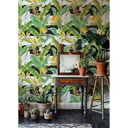 Tropic With Black Lines Removable Wallpaper Mural Self Adhesive Home Decor