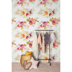 Cute Vintage Wall Wall Mural Flowers Decor Watercolor Removable Wallpaper Floral