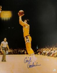 Gail Goodrich Signed Autographed 16x20 Photo Los Angeles Lakers Shooting Blue Ga