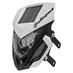Polisport Lookos WhiteBlack Matte Standard LED Headlight Kit