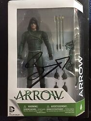 Cw Dc Green Arrow Stephen Amell Autographed Signed Action Figure Coa C
