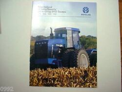 New Holland 4-wheel Drive Tractors Brochure 9282, 9482, 9682 And 9882 1997   M