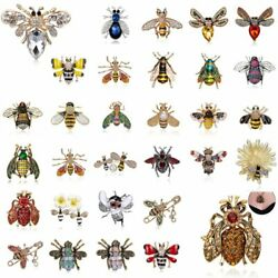 Fashion Glass Lovely Crystal Insect bee Brooch Pin Womens Wedding Jewelry Gift $2.51