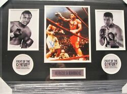 Joe Frazier And Muhammad Ali Signed Autographed Matted Framed 8x10 Photo Coa
