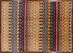 8and039 10 X 12and039 3 Ikat Hand-knotted Wool Rug - P6341