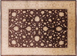 10and039 3 X 13and039 10 Peshawar Hand Knotted Wool Rug - H9404